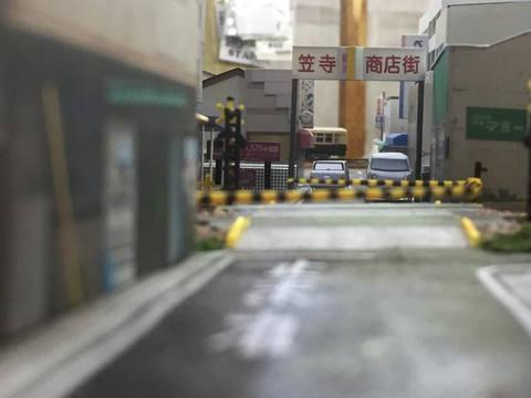 笠寺商店街と名古屋市電