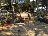 20180127亀池ビオトープづくり(堆肥作り)